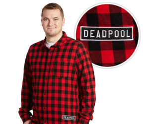 Deadpool Glitch Flannel Shirt