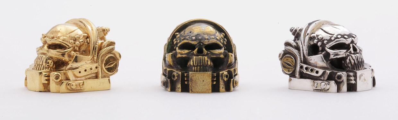 Golden Star Skull Marine Keycap