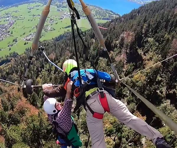 Hang Glider Close Call