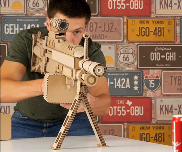 Making a Cardboard Machine Gun