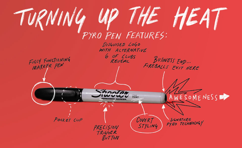 Pyro Fire Shooting Pen