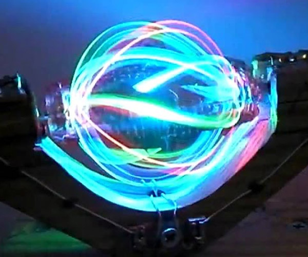 Spinning LED Light Ball