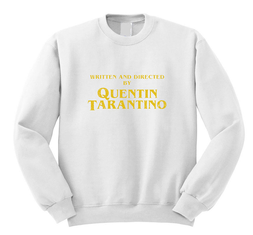 Written and Directed Tarantino Sweater