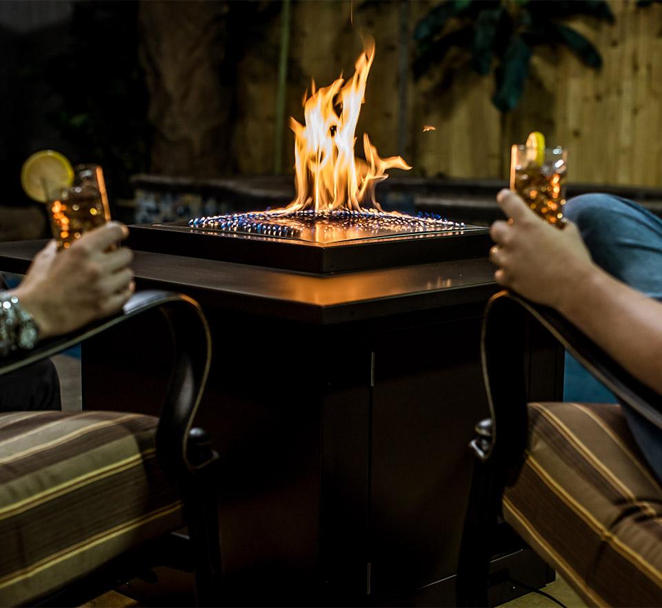 Blazing Beats Fireplace