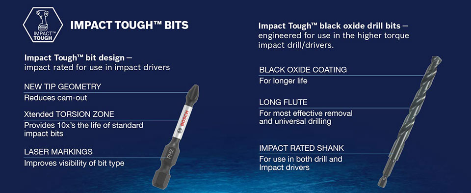 Bosch Impact Tough Drill Driver Set