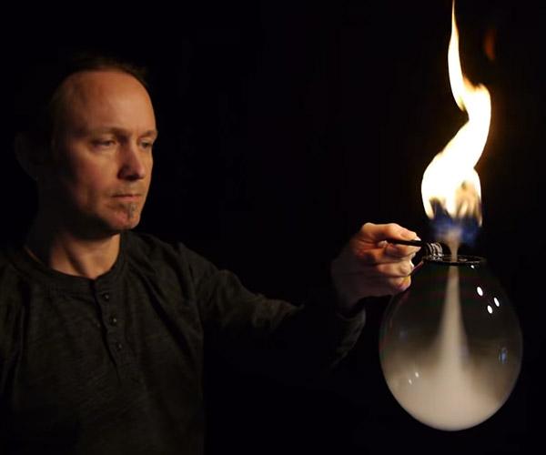 Fire Vortex Bubble