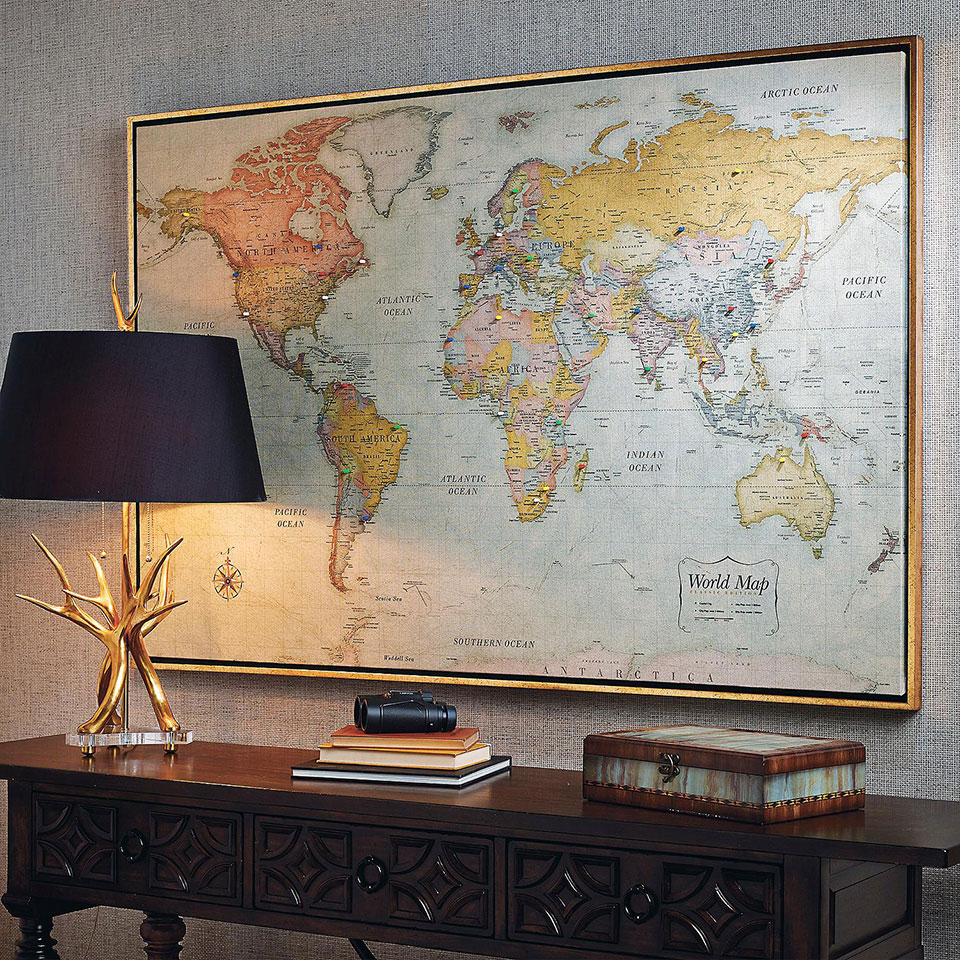 Chart Your Travels With This Large Magnetic World Map