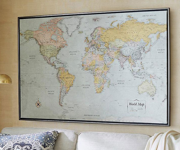 Frontgate Magnetic World Map