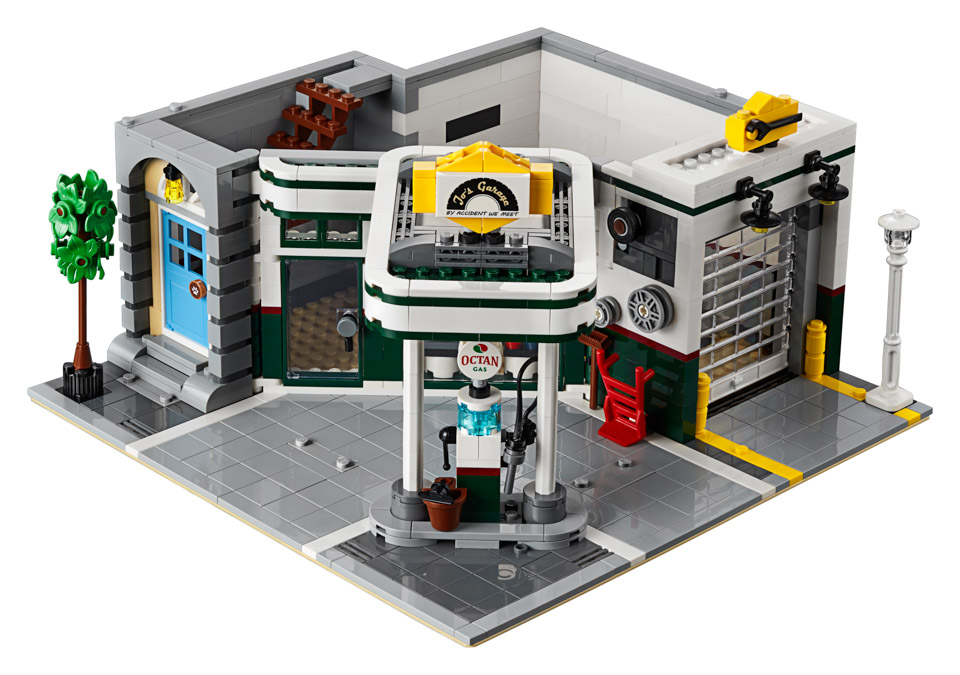 Lego Creator Expert Corner Garage Packs A Detailed Gas Station And