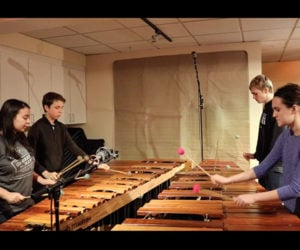 Such Great Heights on Marimba