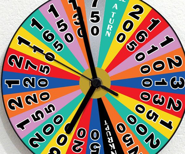Wheel of Fortune Clock