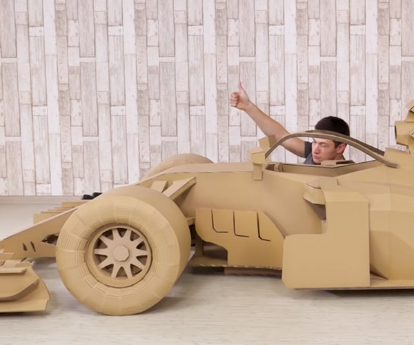 Making a Cardboard F1 Car