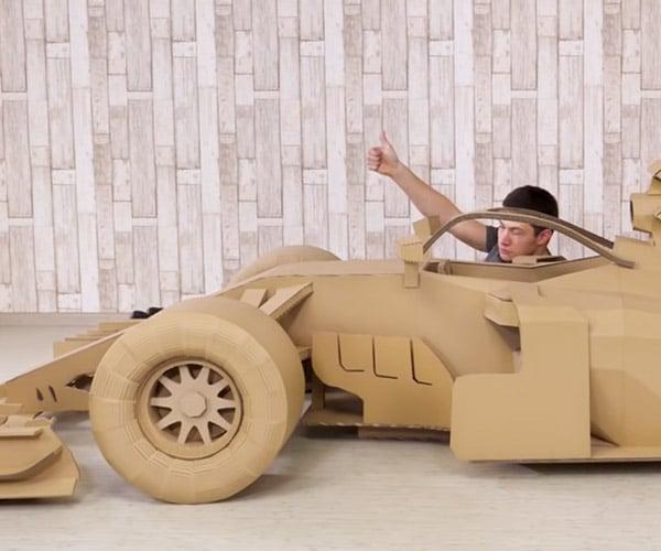 Making a Cardboard F1 Car