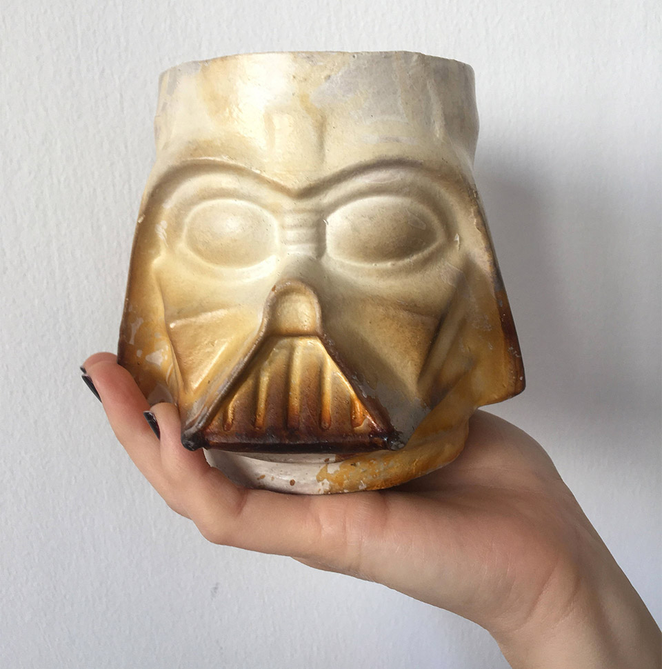 Darth Vader Raku Mugs