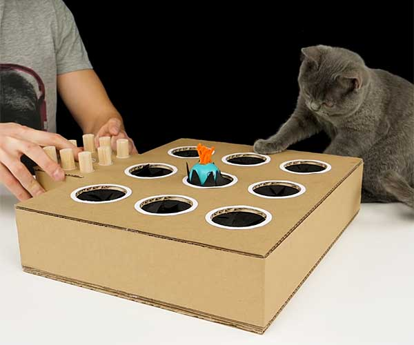DIY Cardboard Cat Whack-a-Mole
