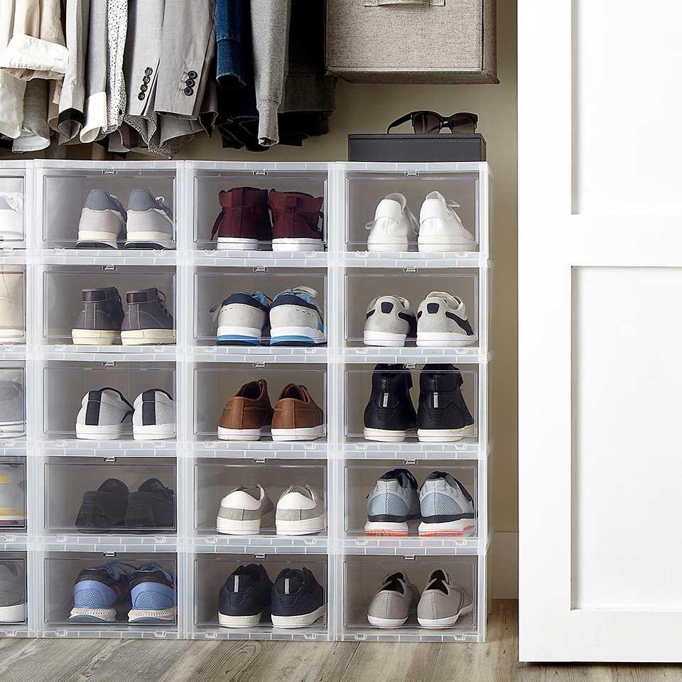 Drop-Front Shoe Box