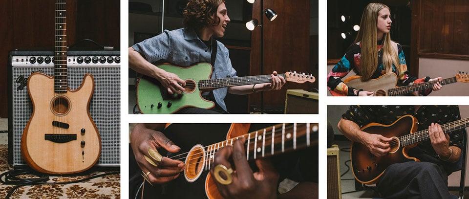fender 39 s acoustasonic telecaster modernizes the acoustic electric guitar. Black Bedroom Furniture Sets. Home Design Ideas