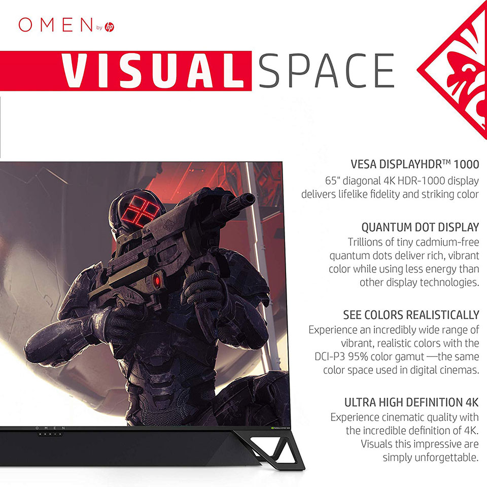HP Omen X Emperium 65 Display