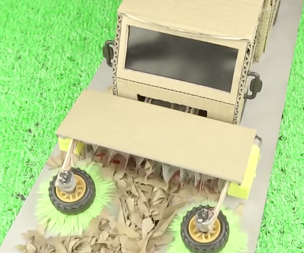 Making a Cardboard Street Sweeper