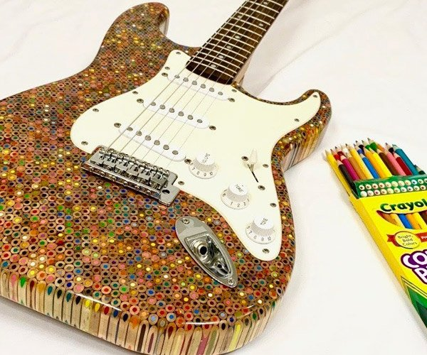 Making a Guitar from Pencils