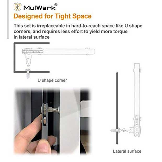 MulWark Pocket Ratchet Screwdriver