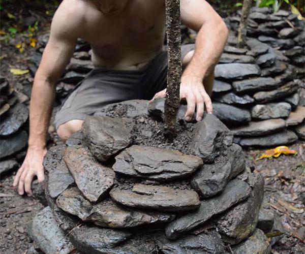 Making Stone Yam Planters