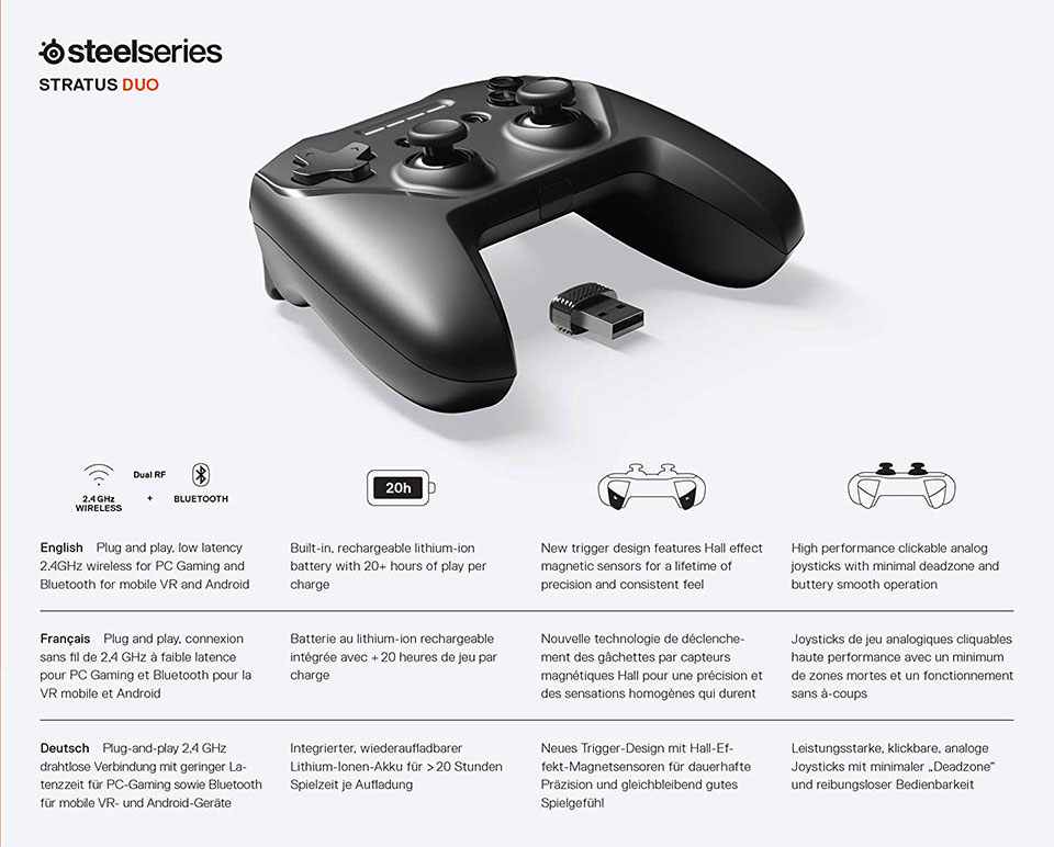 SteelSeries Stratus Duo Controller