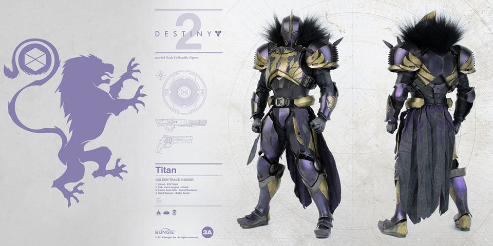 3A Destiny 2 Titan Action Figures