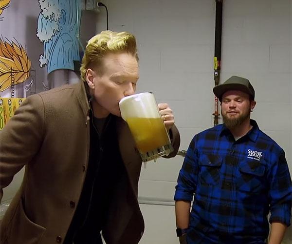 Conan Visits Samuel Adams' Brewery