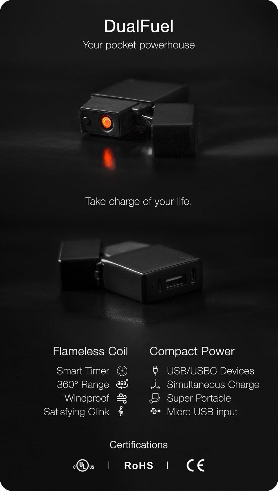DualFuel Lighter & Power Bank