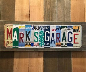 License Plate Signs