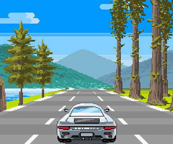 Scenic Roads Pixel Art