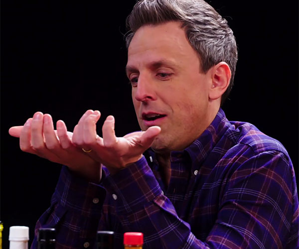 Seth Meyers vs. Hot Wings