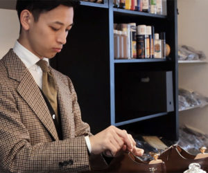 A Shoeshine Champion at Work