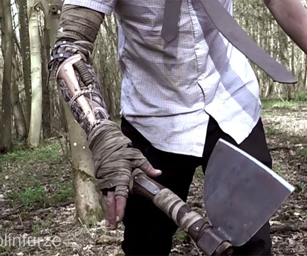 Colin Furze's Wrist-Mounted Axe