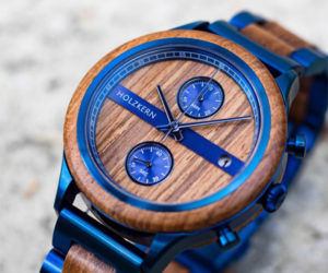 Holzkern Helix Teak Watch
