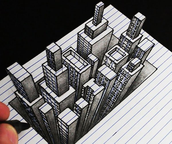 How to Draw a 3D City