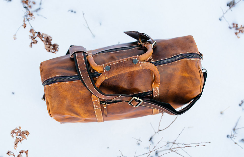 Kodiak Leather Duffel Bags