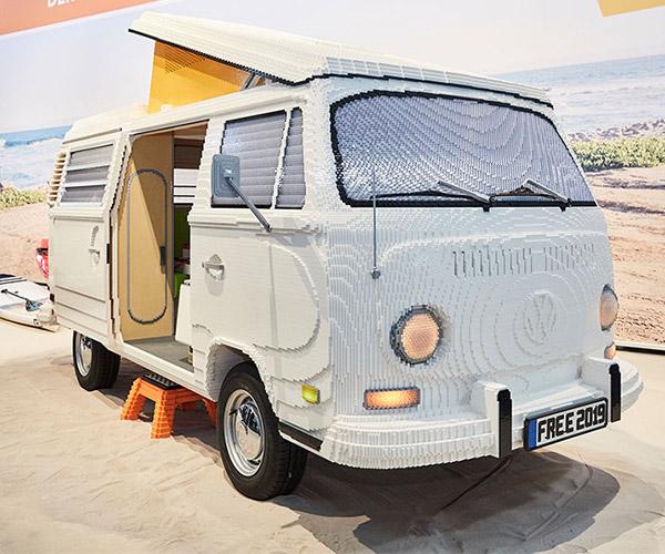 Life-size LEGO VW Camper Van