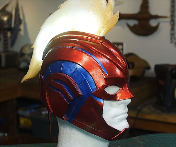 Making Capt. Marvel's Helmet