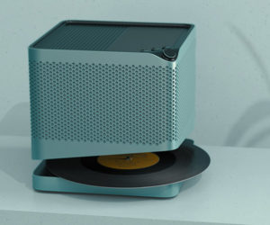 Point Line Vinyl Record Speaker