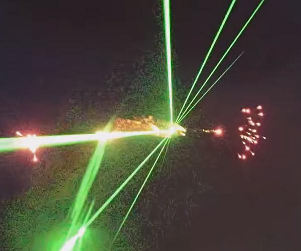 Airplane Laser Light Show