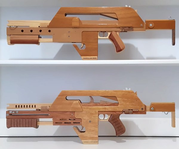 Pulse Rifle Rubber Band Gun