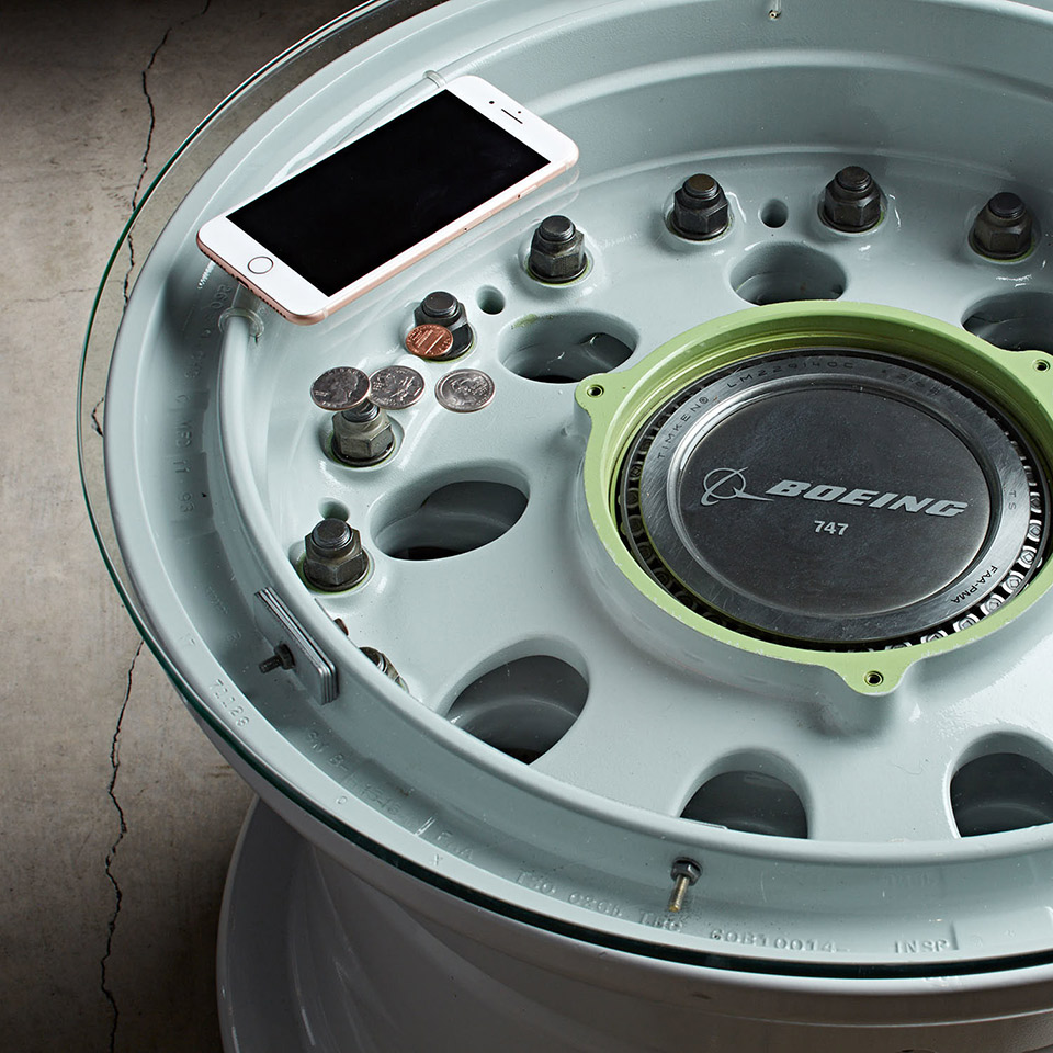 Boeing Wheel Coffee Table
