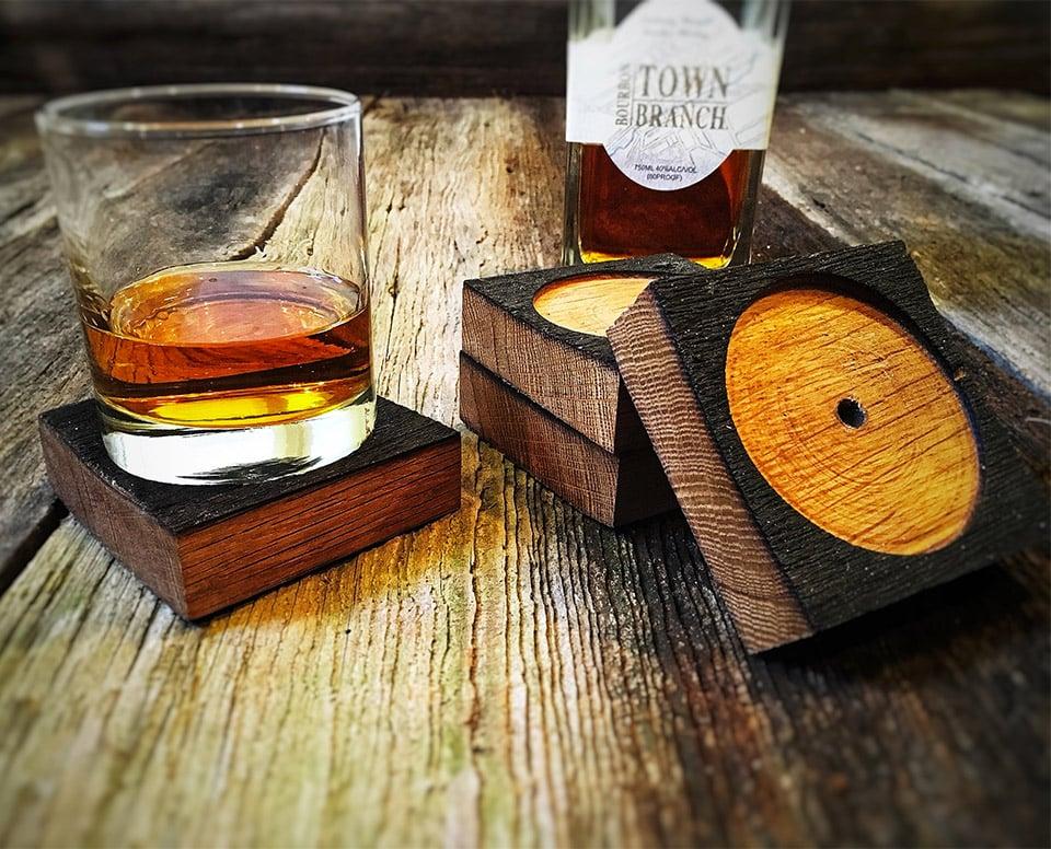 Bourbon Barrel Coasters