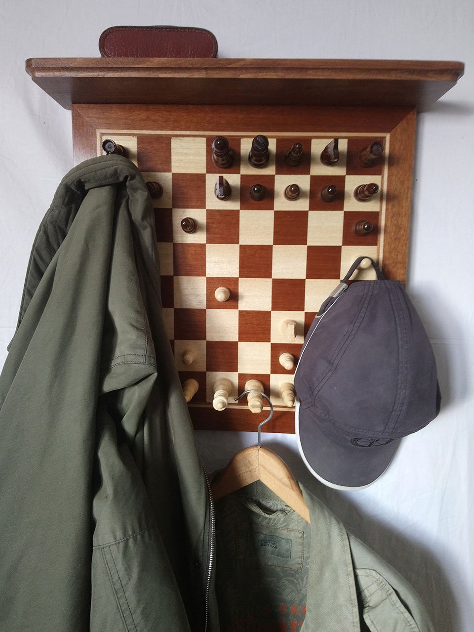 Chessboard Coat Rack