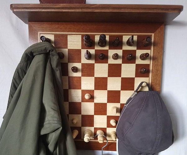 Chessboard Coat Rack