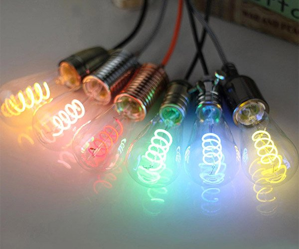 Color LED Edison Bulbs
