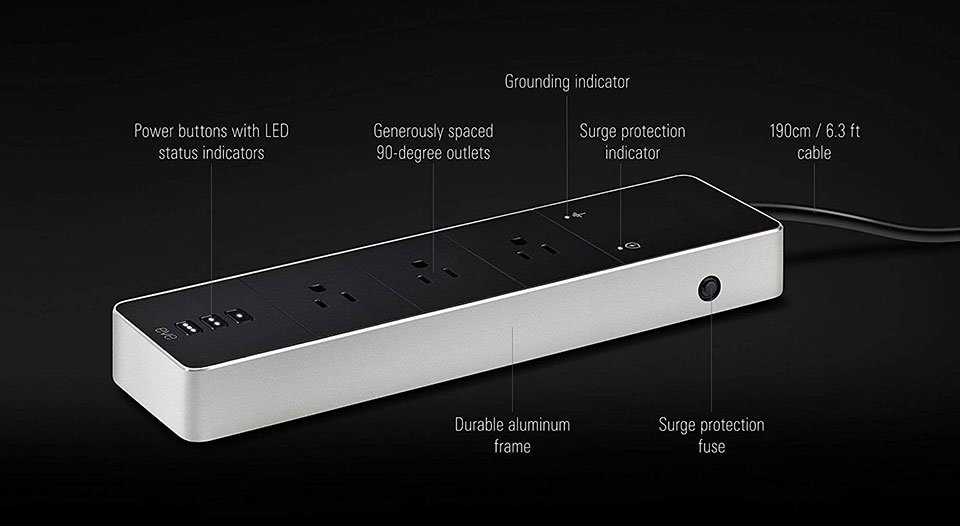 The Eve Energy Strip has Surge Protection and Homekit Support