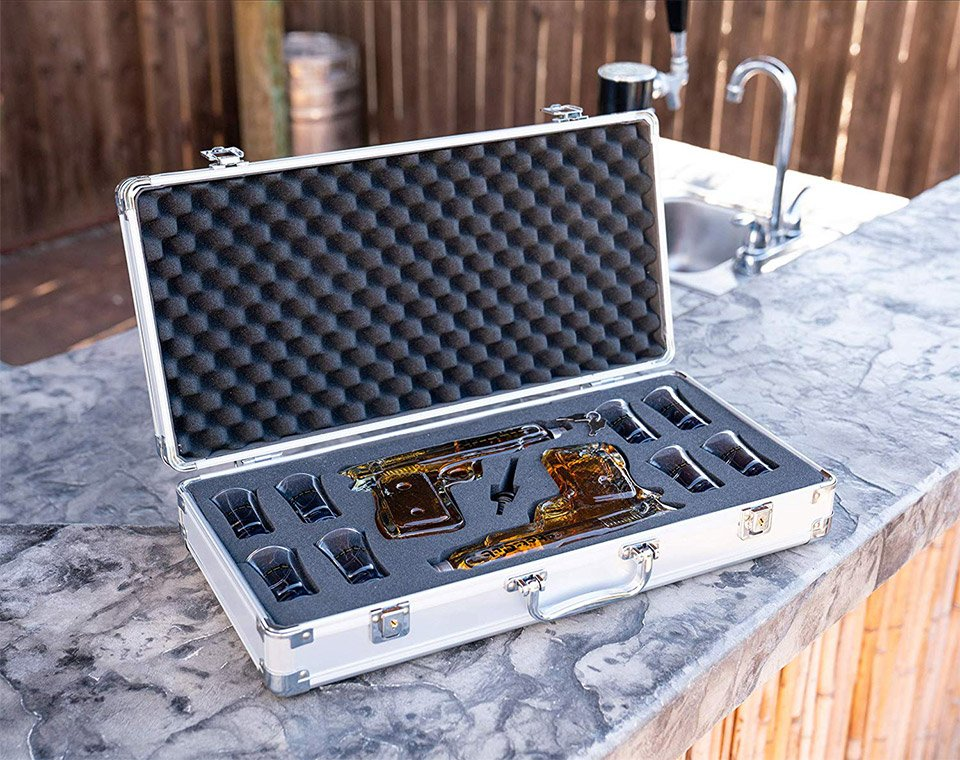 ShotsClub Gun Decanter Set